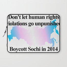 Boycott Sochi - Transgender Flag Gradient Laptop Sleeve