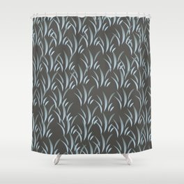 Blue Stalk II Shower Curtain
