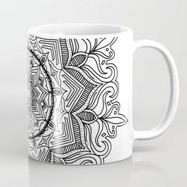 Black Flower Mandala Coffee Mug