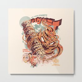 The Kaiju Spaghetti Metal Print