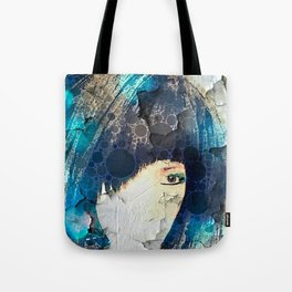 I'm with Wig Blue Tote Bag