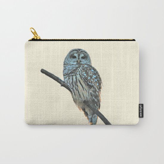 Barred Owl (beige) Carry-All Pouch