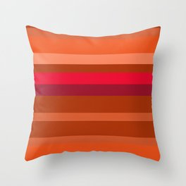 Oranges and Tan  Throw Pillow