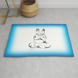 Buddha Cat Love Rug