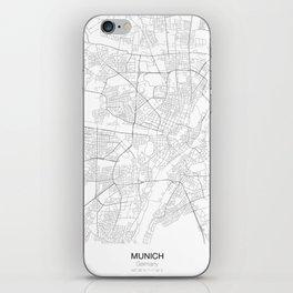 Munich, Germany Minimalist Map iPhone Skin