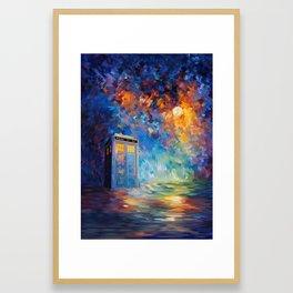 Tardis Doctor Who Rainbow Abstract Framed Art Print