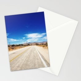 Long Desert Road Stationery Cards