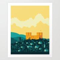 golden Art Prints featuring Golden castle by Roland Banrevi