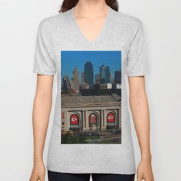 Union Station Kansas City Unisex V-Neck