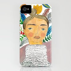 Woman in Florals iPhone (4, 4s) Slim Case