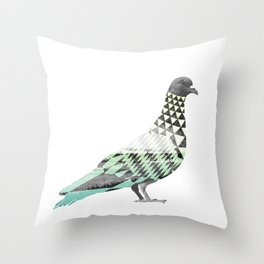 Tessellated Pigeon Throw Pillow