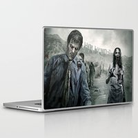 the walking dead Laptop & iPad Skins featuring Zombie by Joe Roberts