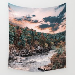 River in Autumn-Minnesota Nature Wall Tapestry