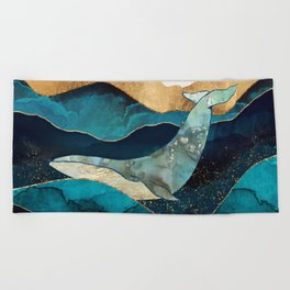 Blue Whale Beach Towel