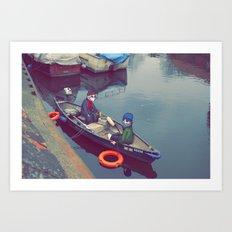 I'm On A Boat Art Print