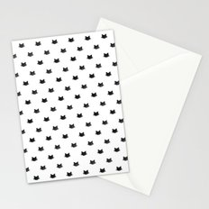 Black Cats Pattern Stationery Cards