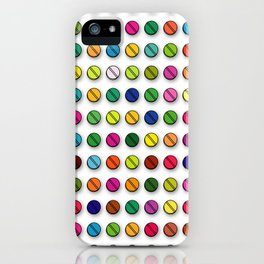 Multi-coloured Pills Pattern square iPhone Case