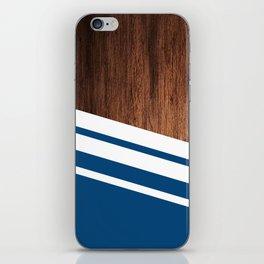 Wood of blue iPhone Skin