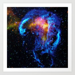 Veil Nebula Art Print