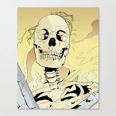 Skeleton on Fire Canvas Print