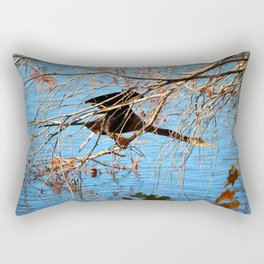 Cormorant Hiding Spot Rectangular Pillow