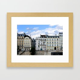 Blues Hue Façades in Paris Framed Art Print