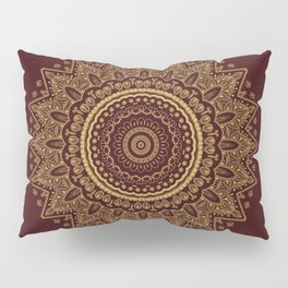 Royal Red and Gold Lace Pillow Sham
