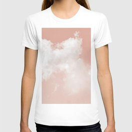 Floating Cotton candy in blush pink T-shirt