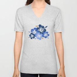 Epic Hibiscus Hawaiian Floral Aloha Shirt Print Unisex V-Neck