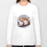 red panda Long Sleeve T-shirts featuring panda by JuliaTara
