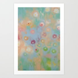 Pastel Daisies Art Print
