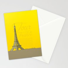 Tour De France Eiffel Tower Stationery Cards