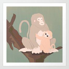 We, the mammals - Monkey! Art Print
