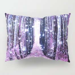 Magical Forest Path Lavender Pink Periwinkle Pillow Sham