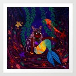 Tropical Mermadia Art Print