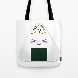 Happy onigiri Tote Bag