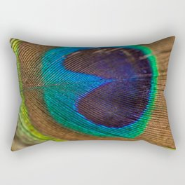 Peacock Feather Rectangular Pillow