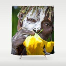 Suri woman with flower Shower Curtain