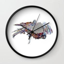 Abstract Roadkill--Pheasant (Hiken x Haugen Collab) Wall Clock