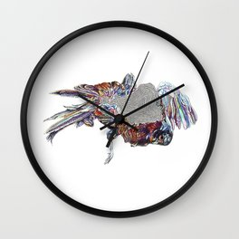 Abstract Roadkill--Pheasant (Hiken x Haugen Collab) Wall Clock