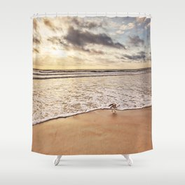 Racing the Wave Shower Curtain