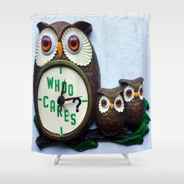 Whoo Cares? Shower Curtain