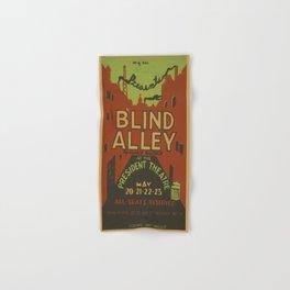 Vintage poster - Blind Alley Hand & Bath Towel