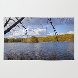 Hall Lake by Yankee Springs in Autumn Rug