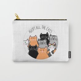 Adopt all the cats Carry-All Pouch