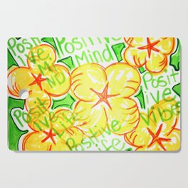 positive mind positive vibes positive life Cutting Board