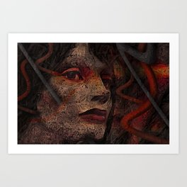 Shell - Cyborg Portrait Art Print
