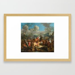 Karel Breydel, gen. Le Chevalier (1677 Antwerpen – 1744 Gent) Calvary Skirmish I Framed Art Print