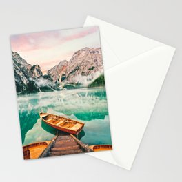 Boats on the lake Stationery Cards