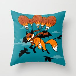 Pterovulpine Throw Pillow
